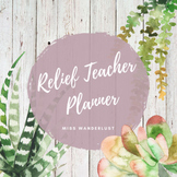 Relief Teacher Planner - Succulent themed