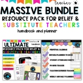 Substitute Teacher Bundle  - Planner Binder and Ultimate Sub Pack/sub plans