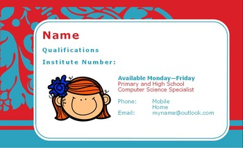 Relief Teaching Business Card Template