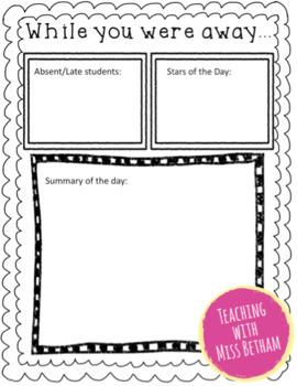 Relief Teaching Feedback Form