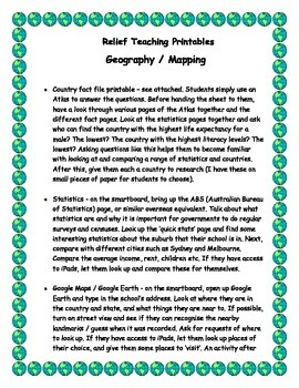 Relief Teaching Geography / Mapping Kit