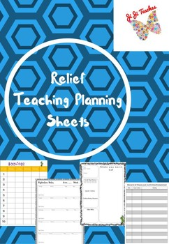 Relief/ casual teacher planning sheets