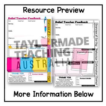 Relief teacher feedback form