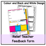 Relief teacher feedback form