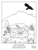 """Relieved Rattlesnake, Coloring Page from """"Color Your Emoti"""