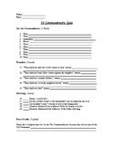 Religion - 10 Commandments Assessment (Quiz)