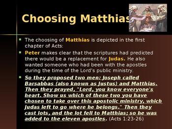 Religion - Apostles of Jesus - Matthias