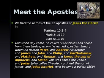 Religion - Apostles of Jesus - Simon the Zealot