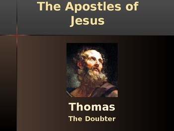 Religion - Apostles of Jesus - Thomas
