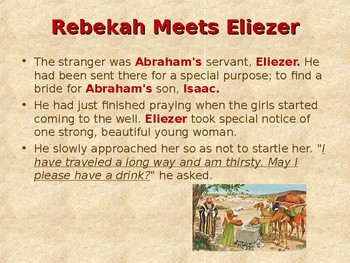 Religion - Children's Bible Stories - Abraham: Part 11 - Rebekah Trusts the Lord