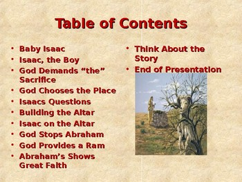 Religion - Children's Bible Stories - Abraham, Part 9 - The Sacrifice of Isaac