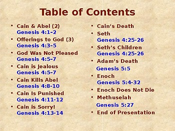 Religion - Children's Bible Stories - Cain & Abel