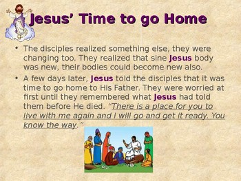 Religion - Children's Bible Stories - Easter, Part 7 - Jesus Goes Home