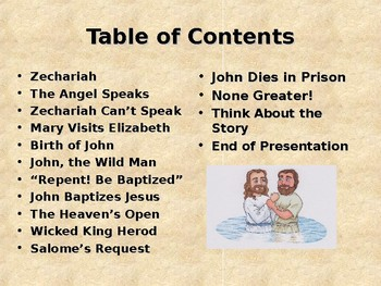 Religion - Children's Bible Stories - John the Baptist
