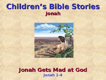 Religion - Children's Bible Stories - Jonah Gets Mad at God