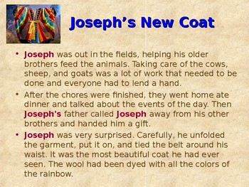 Religion - Children's Bible Stories - Joseph, Part 1 - The Dreamer