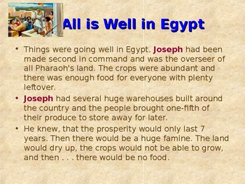 Religion - Children's Bible Stories - Joseph, Part 5 - The Famine Hits