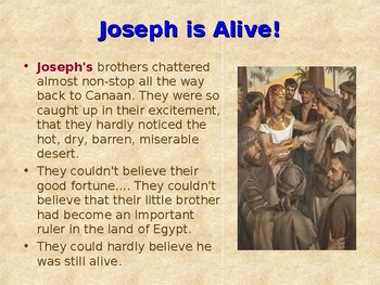 Religion - Children's Bible Stories - Joseph, Part 8 - Moving to Egypt