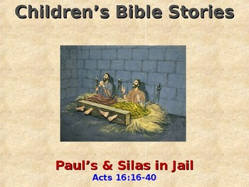 Religion - Children's Bible Stories - Paul & Silas in Jail