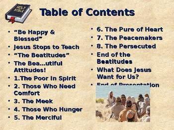 Religion - Children's Bible Stories - The Beatitudes