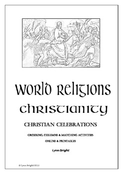 World Religion Christian Celebrations Quiz Activities Printables & Online