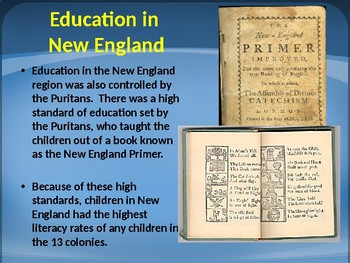 PowerPoint - Religion, Economy, and Education in Colonial America