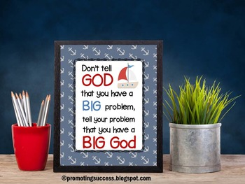 Christian Classroom Poster for Religious Education Inspirational Quote