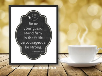 1 Corinthians 16:13 Bible Verse Poster Inspirational Quote Graduation Gift