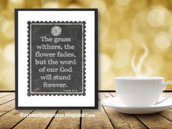 Isaiah 40:8 Motivational Inspirational Bible Verse Quote P