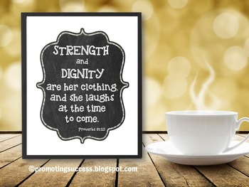 Proverbs 31 Christian School Inspirational Quote Poster Religion Education