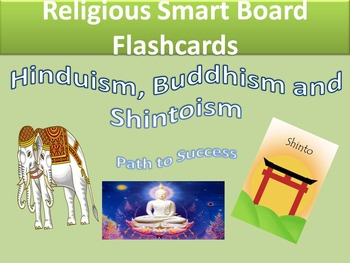Religion Flash Cards-Hinduism, Buddhism and Shintoism-editable version included