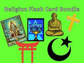 Religion FlashCard Bundle Judaism Christianity Islam Hinduism Buddhism Shintoism