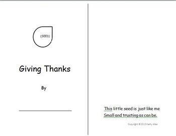"""A """"Giving Thanks"""" Booklet For All Seasons"""