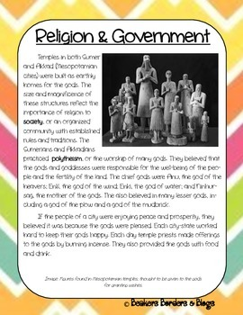 Mesopotamia:  Religion & Government Socratic Seminar Lesson Plan