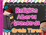 Religion Grade Three Alberta Curriculum Standards created for Amanda