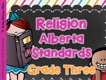 Religion Grade Three Alberta Curriculum Standards created for Amanda
