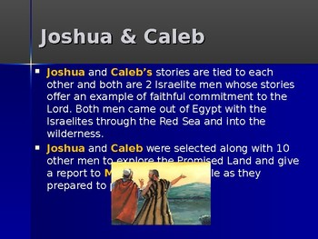 Religion - Heroes of the Old Testament - Caleb - Favored by God