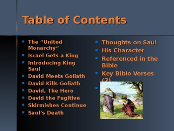 Religion - Heroes of the Old Testament - The Story of King Saul