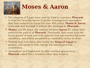 Religion - Heroes of the Old Testament - Moses & the 10 Plagues of Egypt