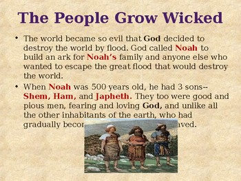 Religion - Heroes of the Old Testament - Noah & the Great Flood