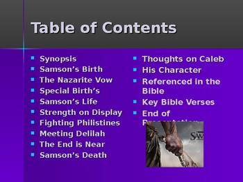 Religion - Heroes of the Old Testament - Samson - Judge & Nazarite