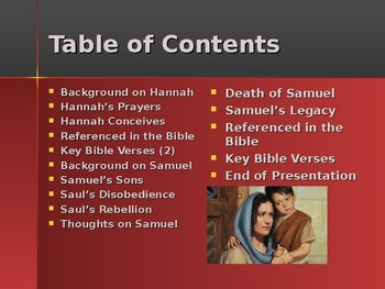 Religion - Heroes of the Old Testament - Samuel - Last of the Judges