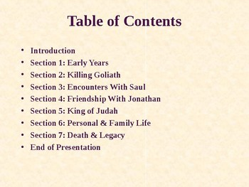 Religion - Heroes of the Old Testament - The Story of King David