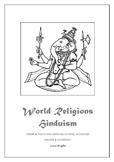 World Religion Hinduism Terms & Texts Matching Activities Printables & Online
