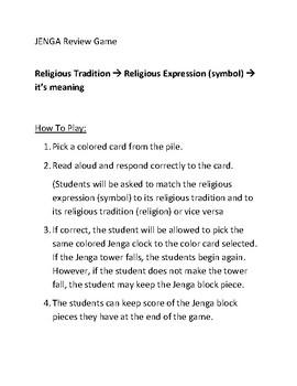 Religion Jenga match game