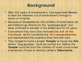 Religion – Jewish History – God's Earthly Dwelling Place – The Tabernacle