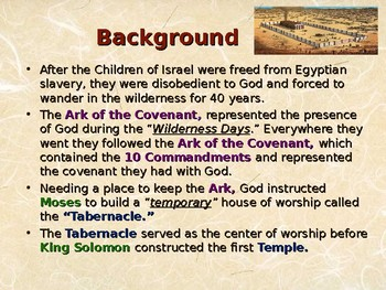 Religion - Jewish History - Gods Earthly Dwelling Place - Solomons Temple