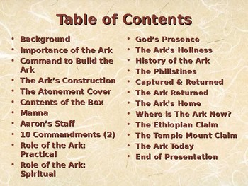 Religion – Jewish History – The Ark of the Covenant