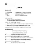 Religion - Judges Assessment (Quiz)