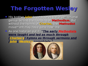 Religion - Key Figures - Charles Wesley
